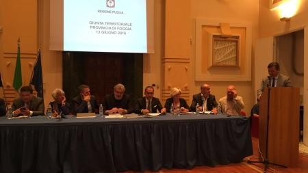 Giunta regionale a Foggia: la Capitanata chiede più attenzione
