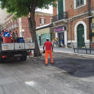 Al via il rifacimento stradale di alcune strade del centro città