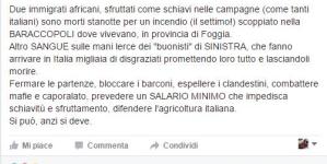 Incendio Gran Ghetto, Salvini attacca la sinistra sull'immigrazione