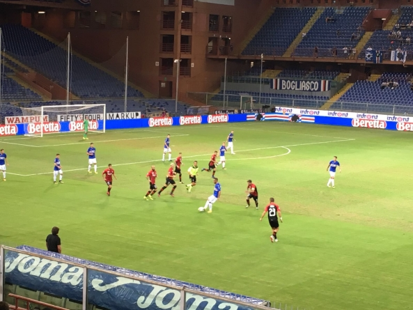Coppa Italia, Sampdoria – Foggia finisce 3-0