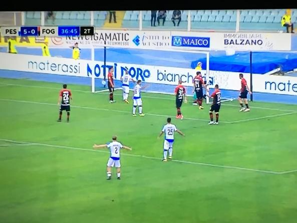 Il Foggia prende una scoppola, a Pescara finisce 5-1
