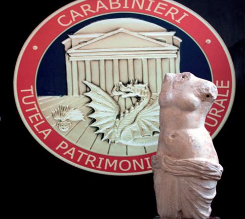 Torna in Italia la statua di Afrodite rubata dall'Università di Foggia nel 2013