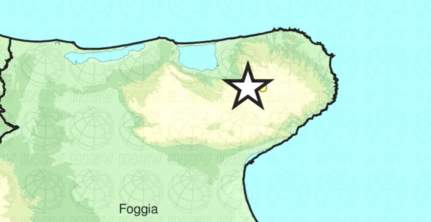 Lieve scossa di terremoto sul Gargano: sisma di magnitudo 2.7