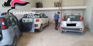 Auto rubate nel foggiano e nel barese trovate in un deposito a Cerignola
