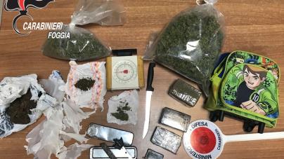 Coniugi nascondevano in casa oltre un chilo e mezzo tra marijuana e hashish