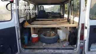 Guerra al caporalato: multato imprenditore e bloccato furgone di braccianti