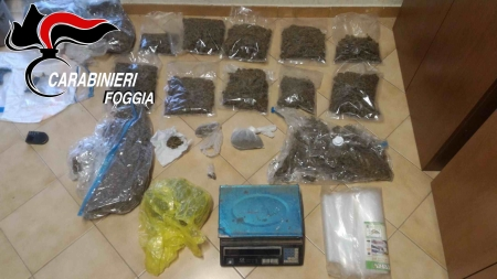 Droga, armi e ricettazione: un arresto e tre denunce nell'Alto Tavoliere