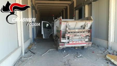 Tre mezzi per la raccolta dei rifiuti di Torremaggiore recuperati a Cerignola