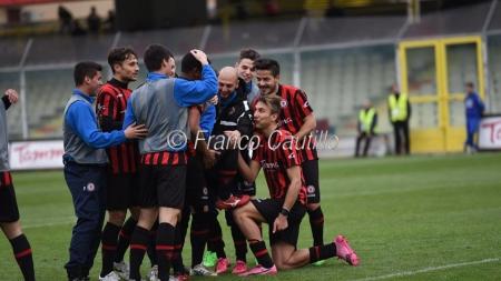 Reazione del Foggia Calcio che guadagna la finale di Coppa Italia