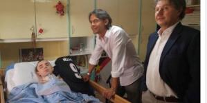 Pippo Inzaghi visita a sorpresa Angelo Riccio