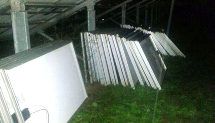 Violenta rapina in un parco fotovoltaico: banditi fuggono con 100 pannelli