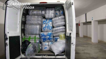 Maxi sequestro di marijuana: arrestati due corrieri albanese