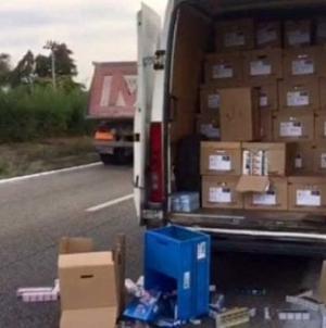 Commando armato assalta furgone carico di sigarette sulla SP 45 bis