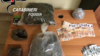 Sorpreso con un chilo e mezzo di droga nel bar: arrestato incensurato di Vieste