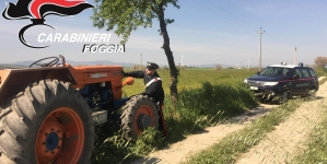 Controlli nelle aree rurali: i Carabinieri recuperano un trattore rubato