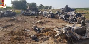 Scoperte 43 scocche d'auto rubate: arrestato un 31enne di Cerignola per ricettazione