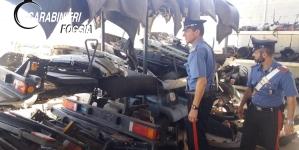 Scoperto e sequestrato deposito di autocarri rubati: arrestati due pregiudicati