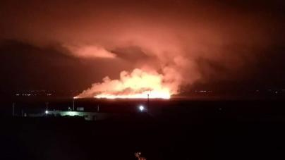 """Un incendio devasta l'area naturale protetta """"Oasi Lago Salso"""" di Manfredonia"""