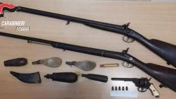 In casa con due fucili e un revolver: denunciato imprenditore di Mattinata