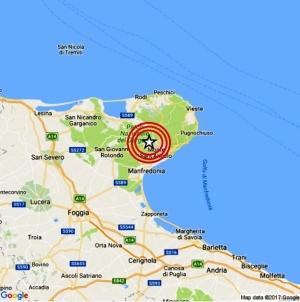 Scossa di terremoto nella notte sul Gargano: epicentro a Monte Sant'Angelo