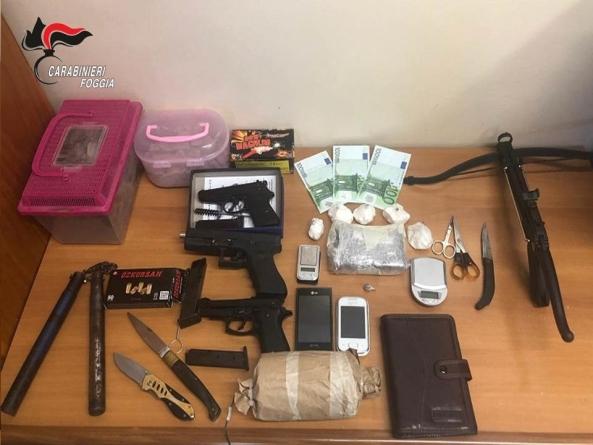 Cocaina a Manfredonia: 5 arresti per detenzione e spaccio di stupefacenti